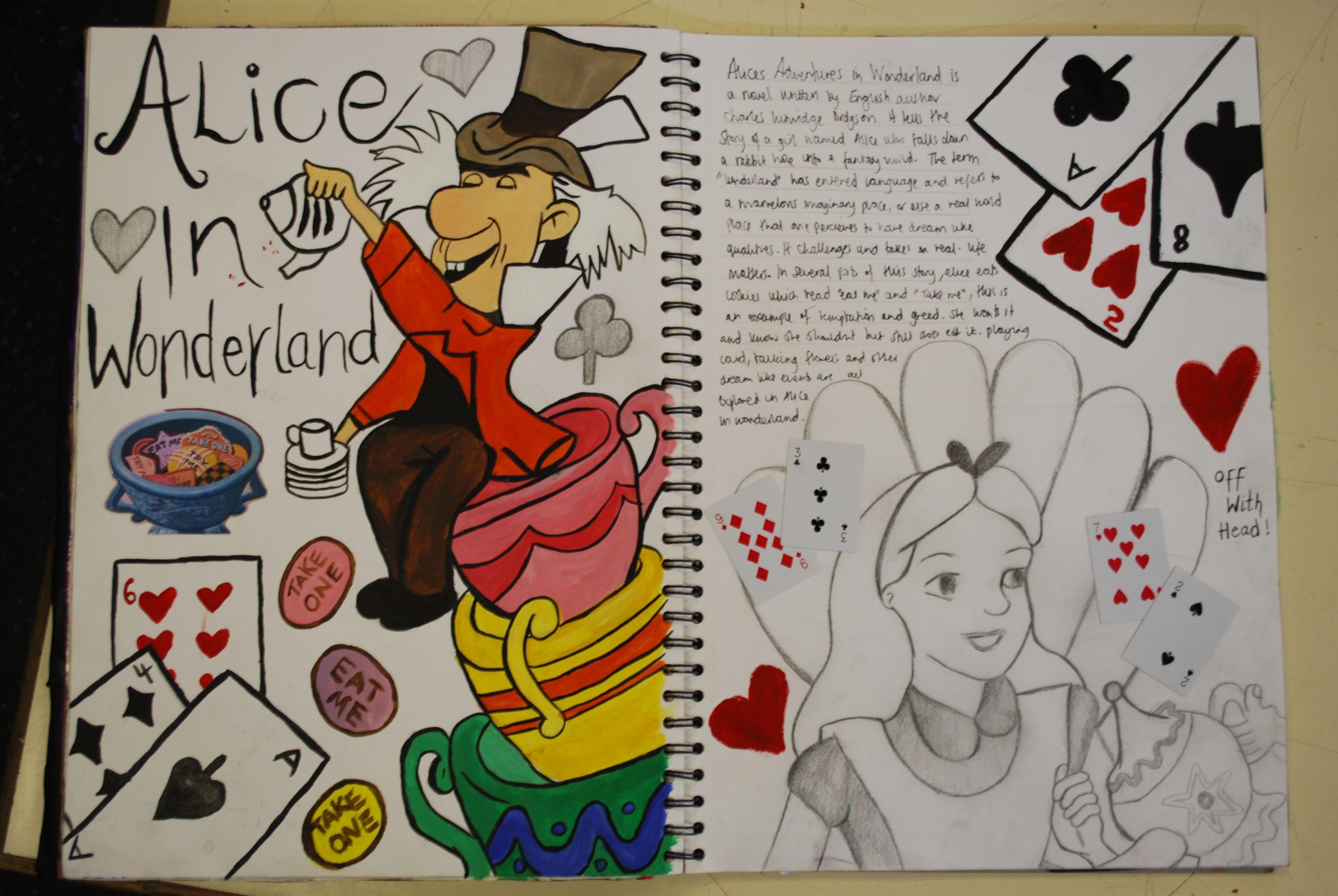 Alice in Wonderland Art Drawing Ideas