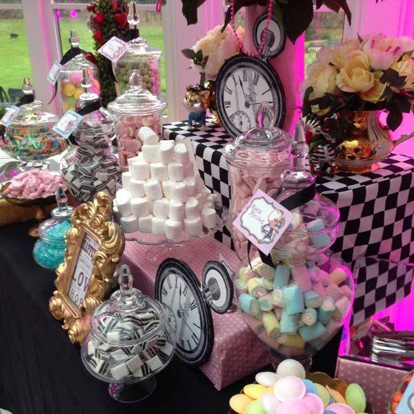 Pink Alice in Wonderland Sweetie Table & Pink Alice in Wonderland Sweetie Table | Zoey 1st birthday ...