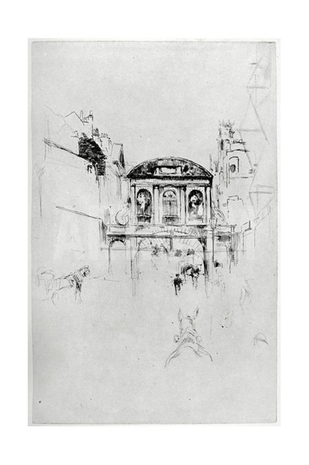 Temple Bar, 19th Century Giclee Print by James Abbott McNeill Whistler at Art.com