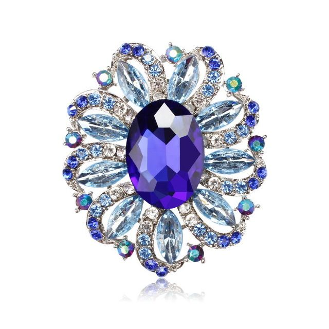 96cca5cfe13 ... Oval Acrylic Stone and Crystal Flower Brooches Fashion Costume Jewelry  for Women from Reliable crystal flower brooch suppliers on WeimanJewelry  Store