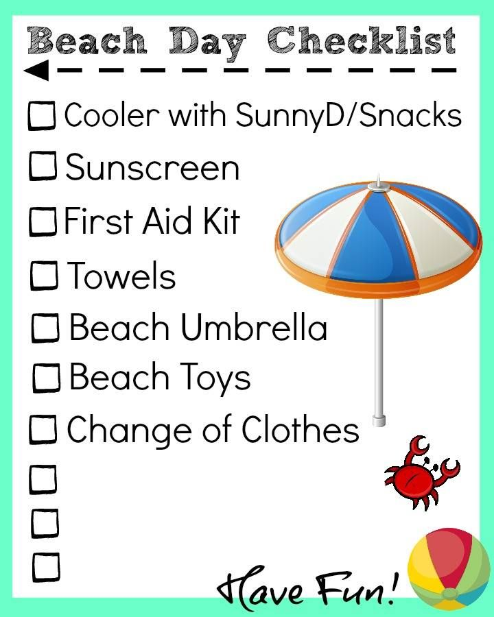 Summer Vacation Tips With Printable Beach Day Check List