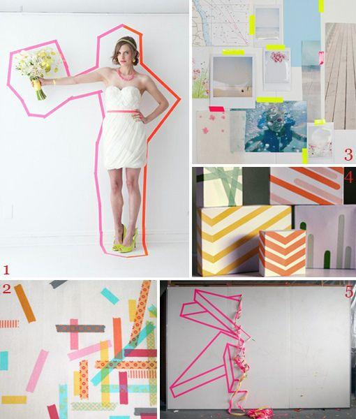 masking tape fluo graphic pinterest fluo tapas. Black Bedroom Furniture Sets. Home Design Ideas