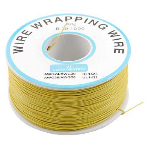 Amico Yellow Pvc Coated Tin Plated Copper Wrapping Wire Wrap 305m 30awg Cable Reel By Amico 12 00 Features Flexible Wire Wrapping Cable Reel Insulation Wrap