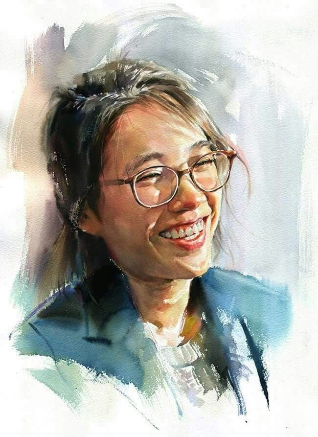 Watercolor Portrait Paintings By Chinese Artist Guan Weixing