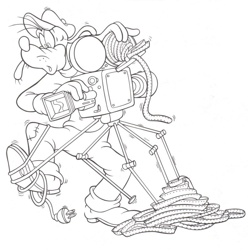 Hollywood Studios Goofy Camera man Coloring pages Pinterest