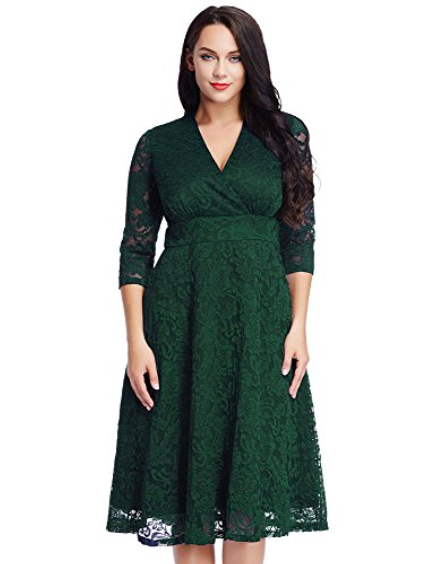 77ac253681f Women s Plus Size Green Lace Mother of the Bride Bridal Formal Empire Dress  18W -- Awesome products selected by Anna Churchill