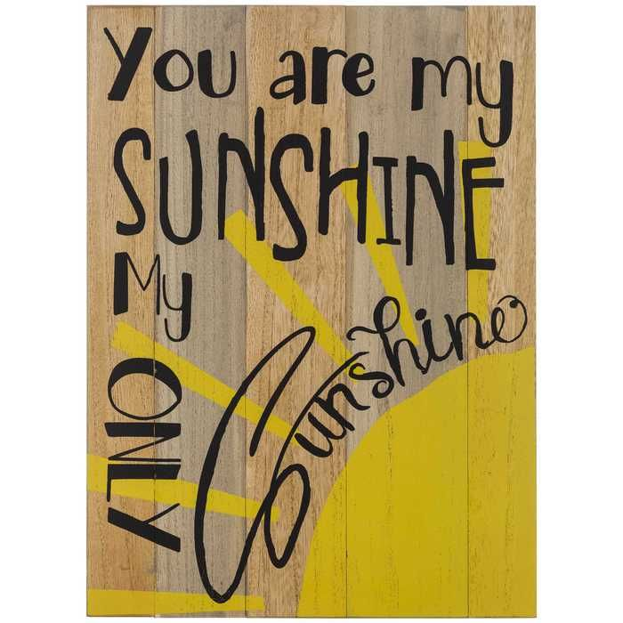 You Are My Sunshine Wood Wall Decor | Wood plaques, Woods and Wood walls