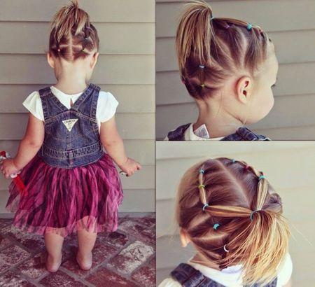 Peinados Faciles Para Nina De 3 Anos Paso A Paso Peinados Cabello Corto Nina Peinados Con Ligas Para Ninas Peinado Con Ligas