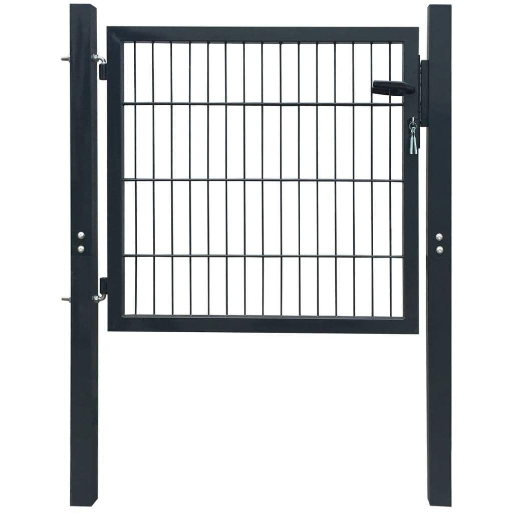 Fence Gate Steel Anthracite 103×150 cm
