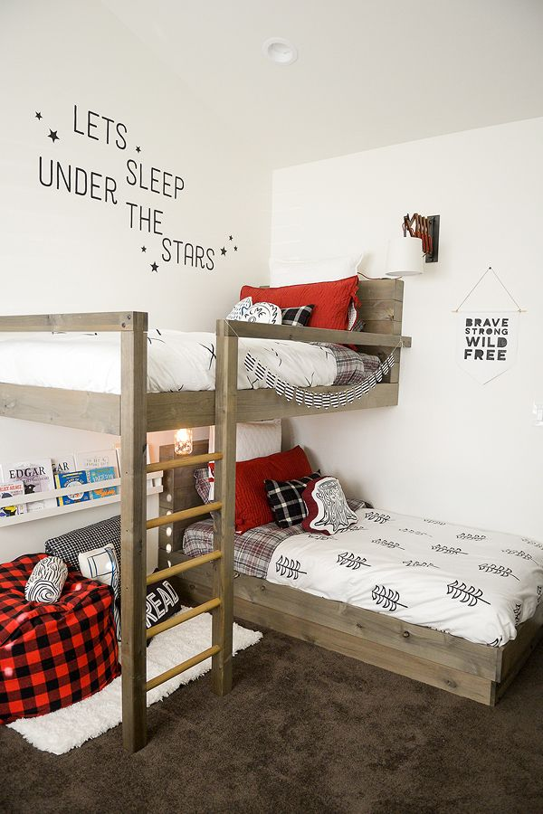 How To Design And Build The Lumberjack Bedroom Bunk Beds + FREE PLANS  (Jenallyson   The Project Girl)