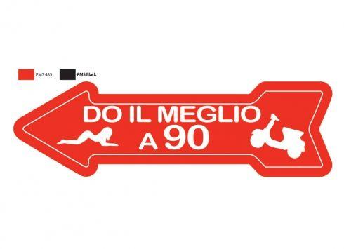 FRECCIA DO IL MEGLIO A 90. Freccia in metallo con ventosa.
