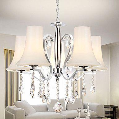 260 14 5 Light Chandelier Uplight Crystal 110 120v 220 240v Bulb Not Included 15 20 E12 E14 Lámparas De Techo Lamparas Para Sala Lamparas Para Sala Comedor