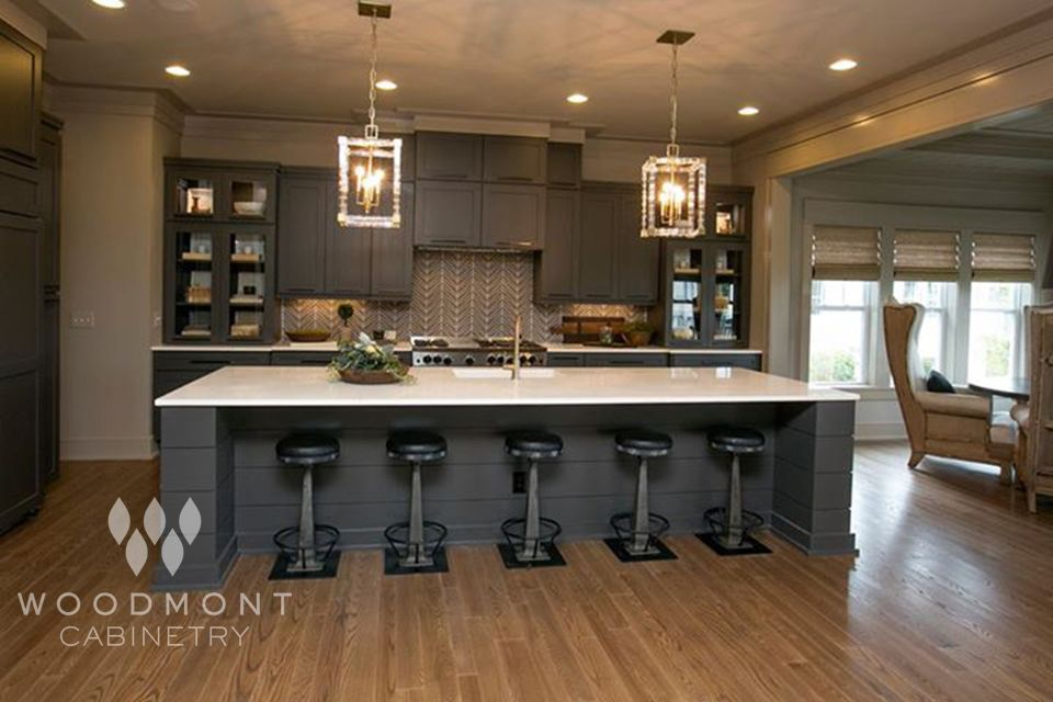 Elegant Kitchen Cabinets By Woodmont Cabinetry! Style: Stockholm   Wood:  Maple   Color: Black Fox   Specs: Center Panel, Drawer The Jae Company  Parade Of ...