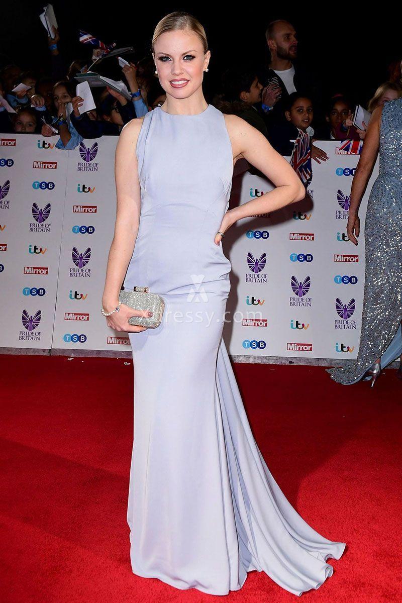 Joanne clifton simple lavender crew neck mermaid dress pride of