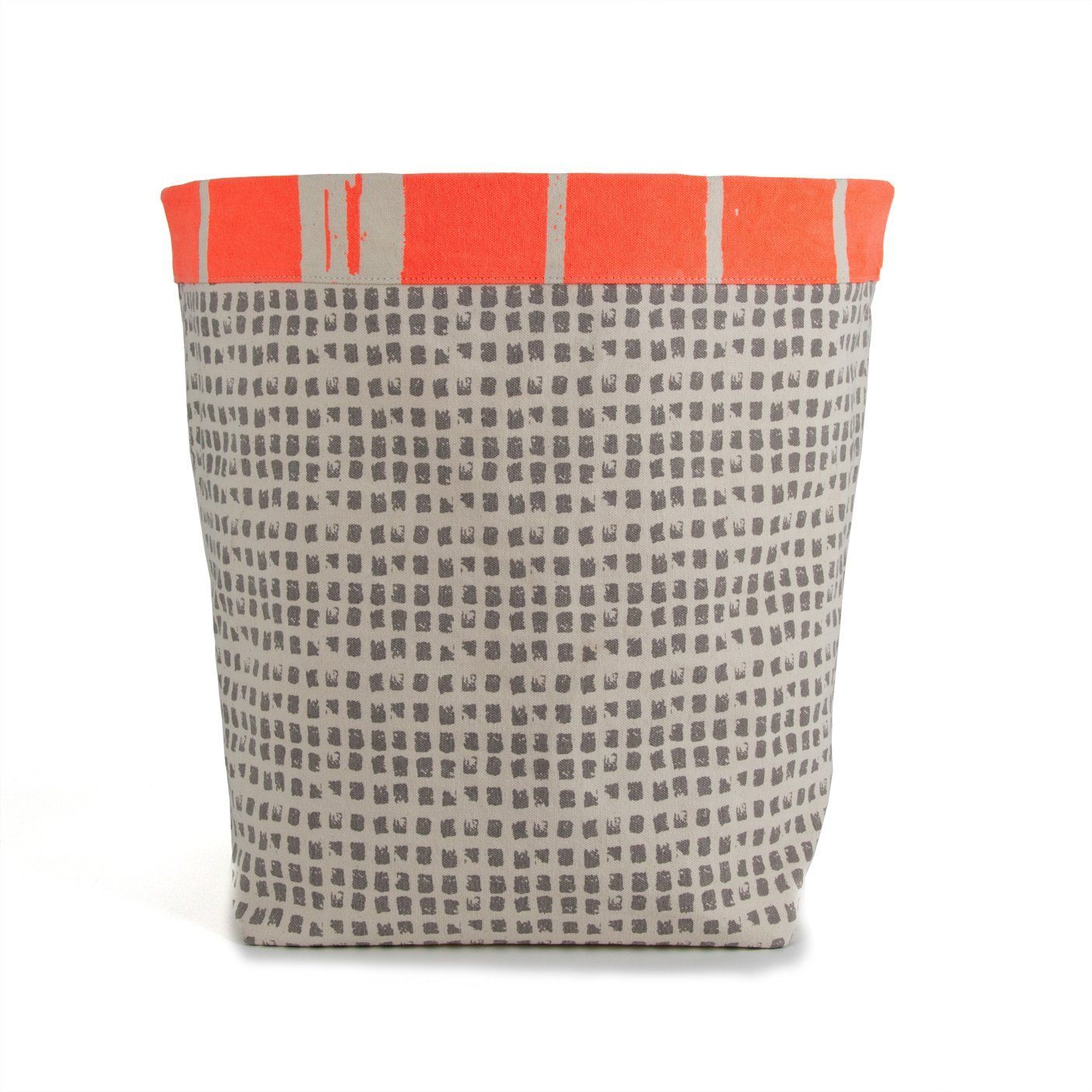 Amazon.com: Fluf Organic Cotton Reversible Storage Bin, Landscape Neon  Orange: Home