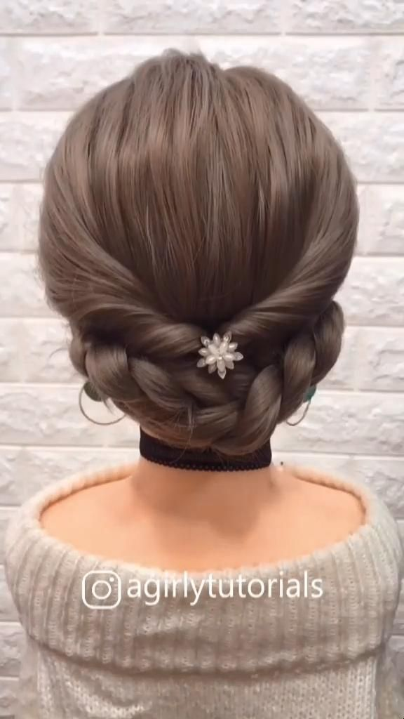 Photo of DIY Long Prom Wedding Updo Hairstyle Tutorial