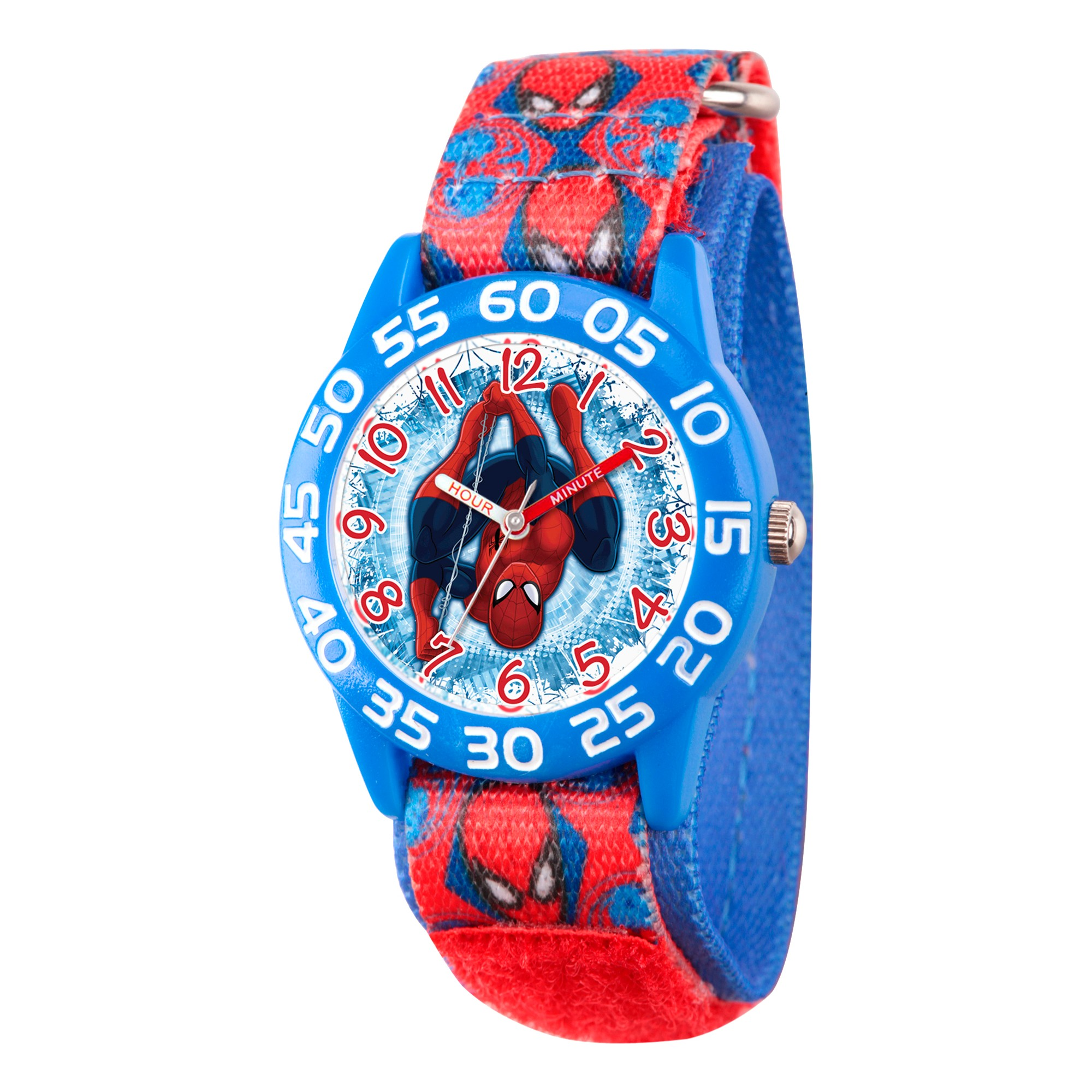 5f7737a91 Boys  Marvel s Ultimate Spider-Man Blue Plastic Time Teacher Watch - Red