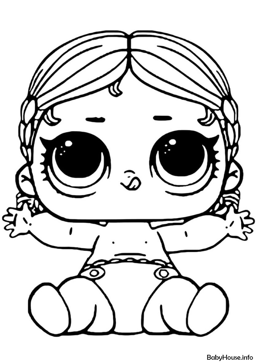 Lil Vacay Babay High Quality Free Coloring From The Category L O L Lil Sisters More Printable Pictures On Our Coloring Pages Cute Coloring Pages Lol Dolls