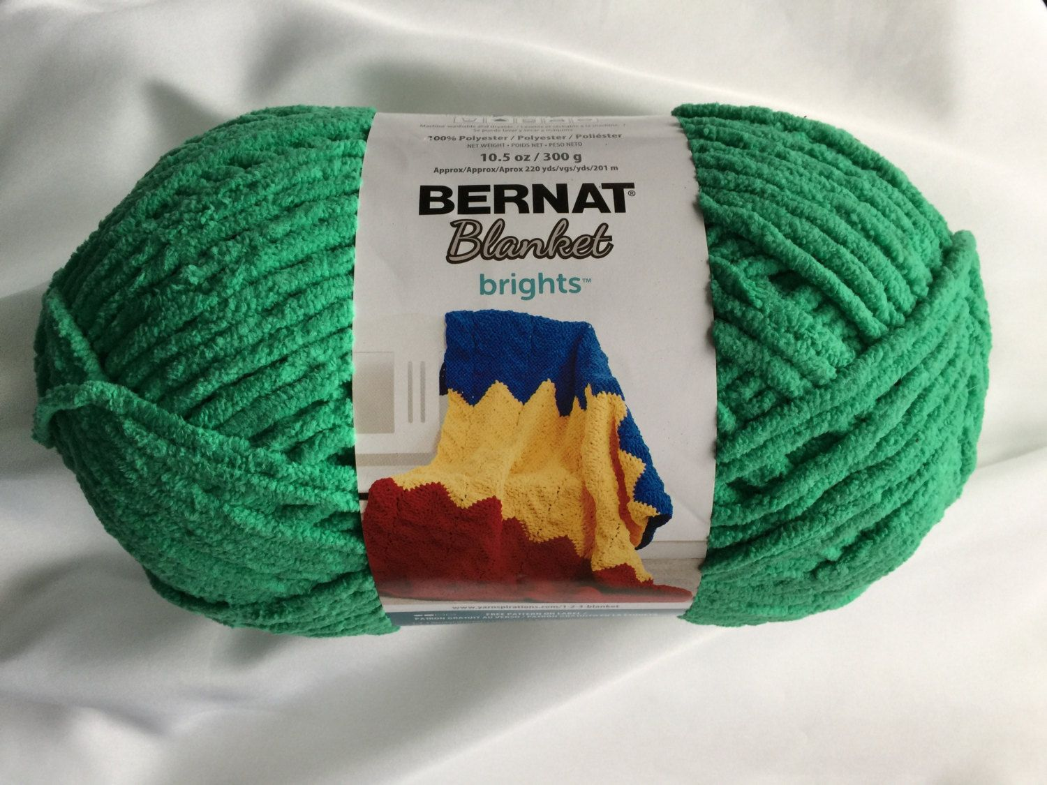 Bernat Blanket Brights Go Go Green 12004 Yarn Big 10 5 Oz