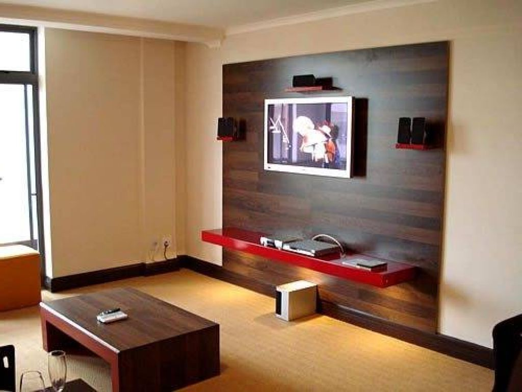 Bathroomlovely furniture feature design ideas modern for Interior design ideas living room tv unit