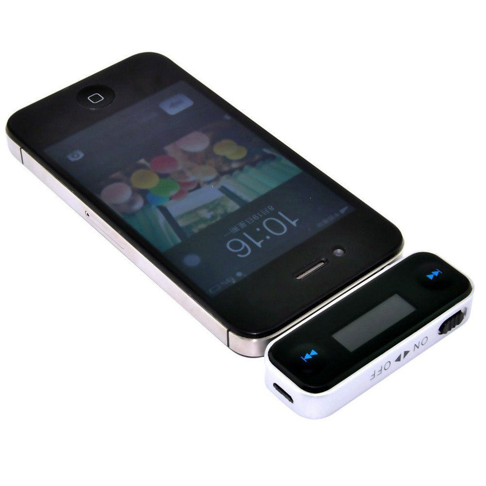 KINGCO Wireless 3.5mm In-car Fm Transmitter for iPhone 6 5 5S Samsung Galaxy Note3 S3 S4 FM Transmitter for iPod / iPhone 5G/4S/4G/3GS/3G and other MP3 / 4 players,mobile phones. Hands free talk function offer you more safty during driving. LCD displayers frequency with backlight. With Touch key design,High fidelity stereo. Digital PLL,transmisson is stable in different environments.