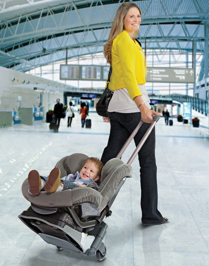 Just Booked That Airplane Ticket For Your Summer Vacation The Brica Roll N Go Car Seat Transporter Makes Traveling With Bulky Seats Easier