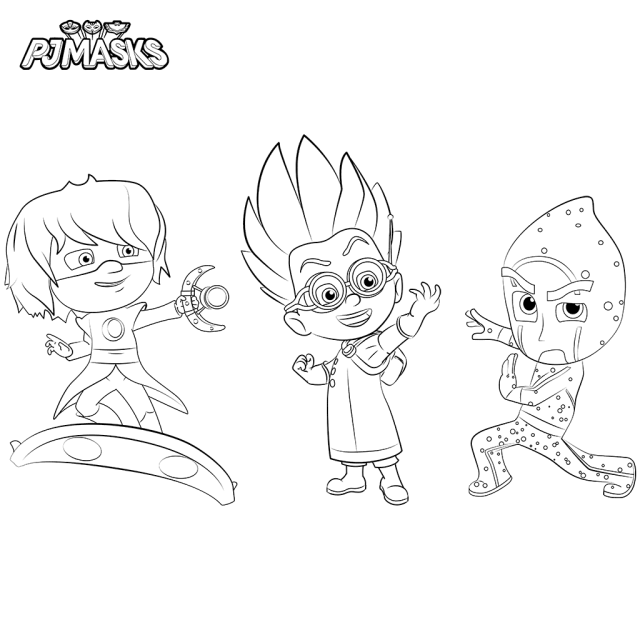 Top 30 PJ Masks Coloring Pages | Pinterest | Pj mask, Pj and Masking