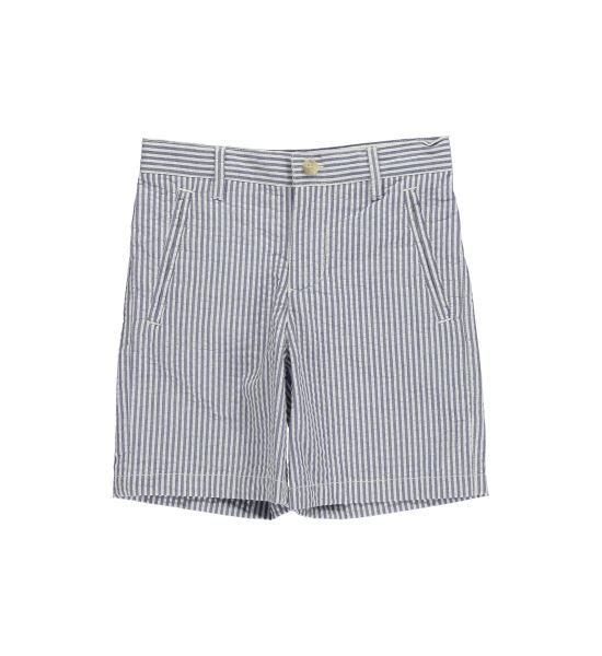 Blue Stripe Seersucker Short | Bottoms | Hartstrings