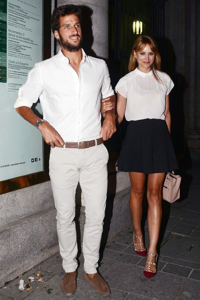 Feliciano López: The chicest of them all. No socks, with the perfectly slightly worn-in brown suede driving shoe, the light-colored, fitted khakis paired with the white shirt keeps it elegant yet very casual. That is not an easy task. [Photo by Europa Press/Europa Press via Getty Images]