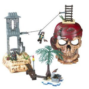 Mega Bloks Pirates of the Caribbean -Isla Cruces by Megabloks. $45.99. Included with the toy are the detailed figures of a brave Jack Sparrow and another of Maccus, one of the Flying Dutchman's crewmembers.. Nurtures creativity and imagination through storytelling and character development.. Set includes 40 pieces.. To turn your child into a true pirate, a water-soluble Pirates of the Caribbean tattoo is included in the box.. Also perfect for fine motor skills as well as focus an...