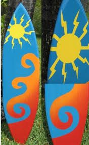 decorative surfboard wall art - Google Search | hawaiian party ...