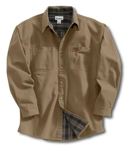 winter clothes carhart | Carhartt S96 Canvas/Flannel Lined Shirt ...