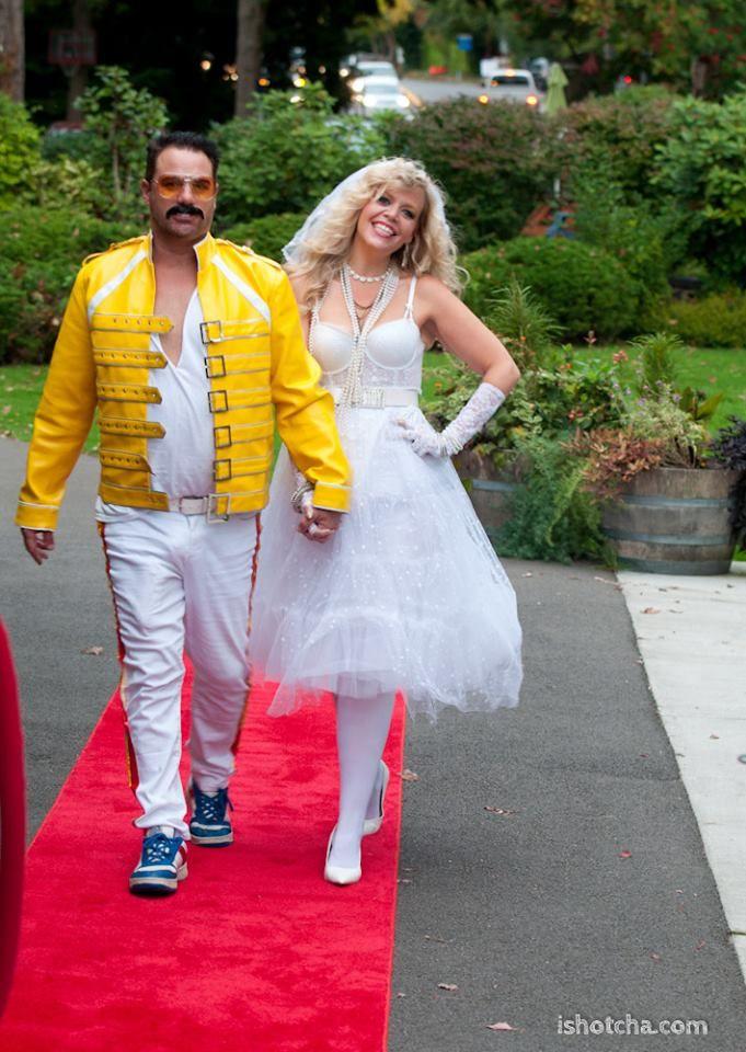 DYI Couple Costume - Freddie Mercury and Madonna. Freddie