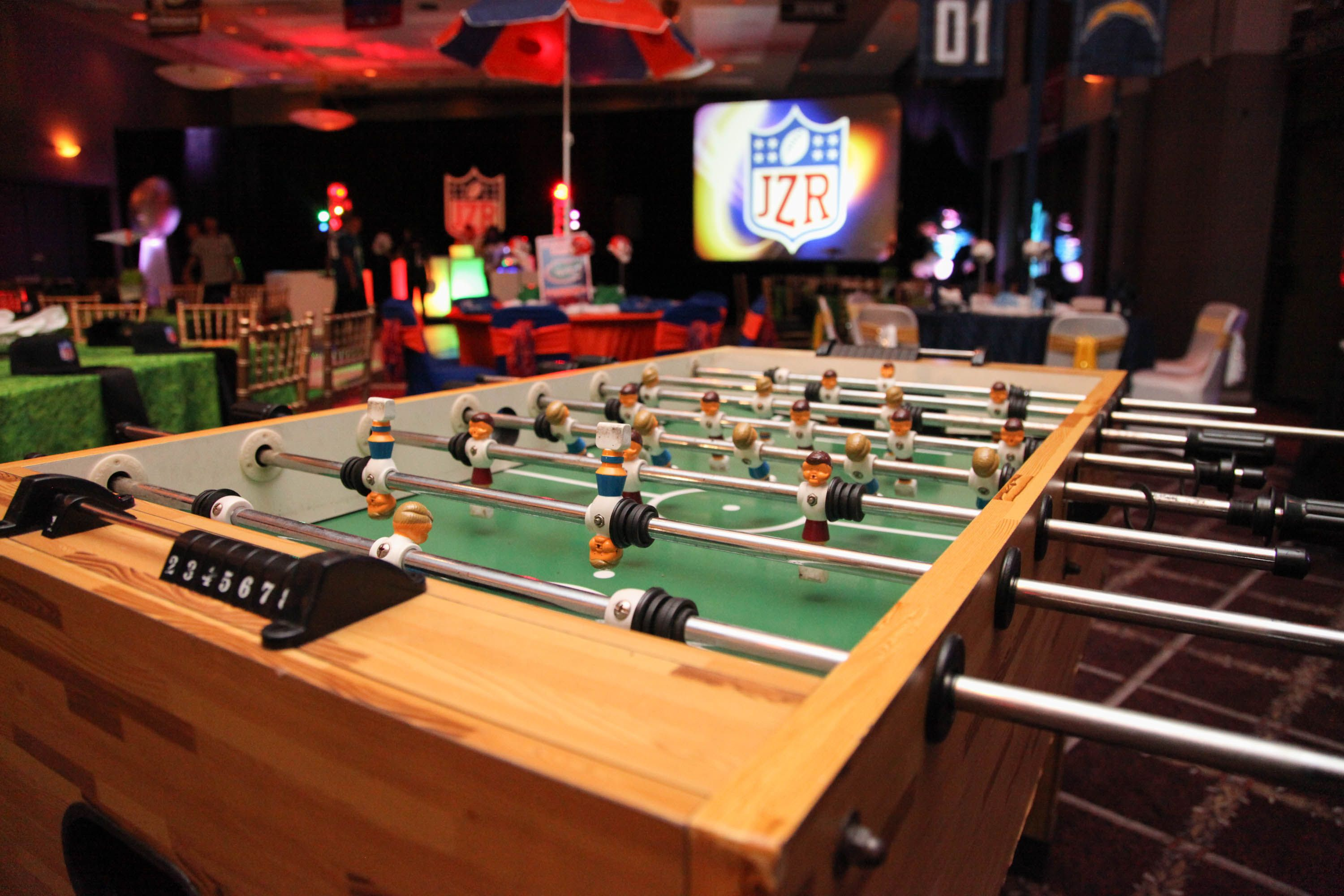 Fooseball Table Is Great Event Entertainment For A Party The - Pool table jacksonville fl