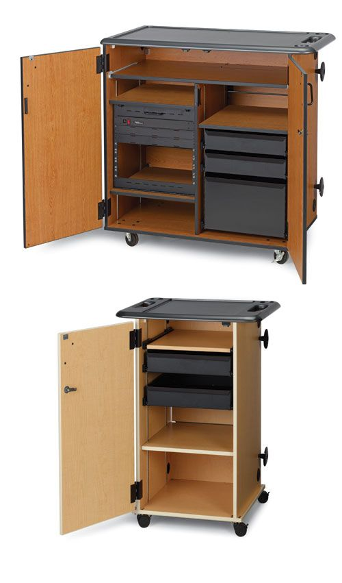 The Mobile Media Storage Cabinet By Wenger Are Customizable Cabinets Designed Especially For