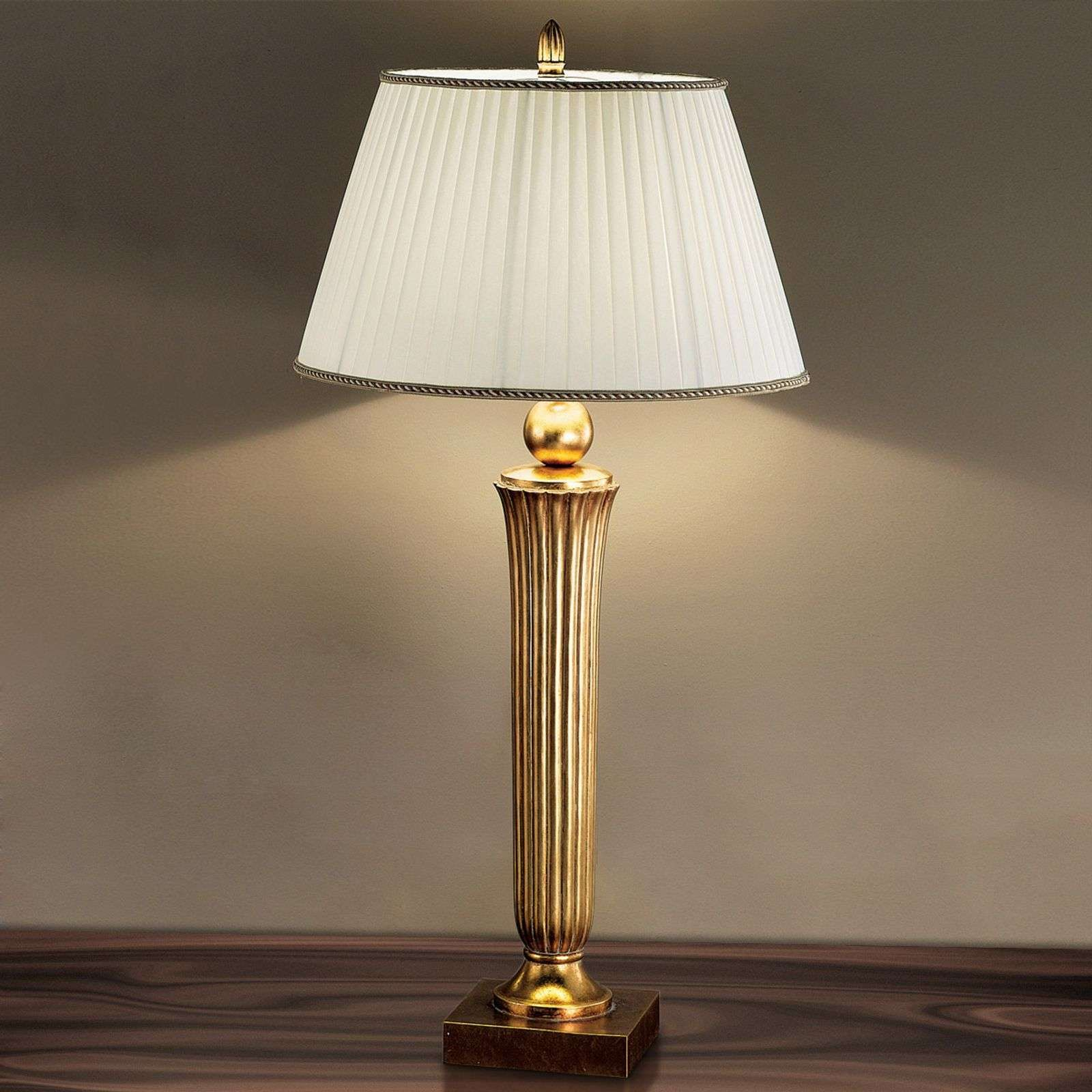 Prachtige vloerlamp JANNI in warme goudtint Laag plafond