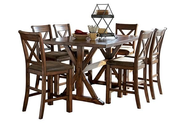 The Waurika Counter Height Extension Dining Table From