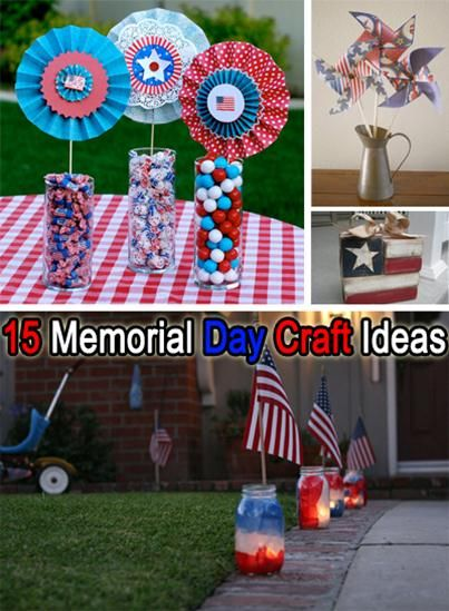 15 4th of July/Memorial Day Craft Ideas