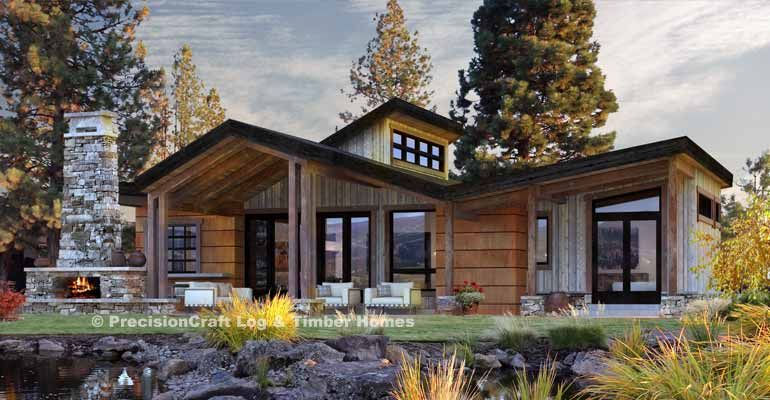 Coldwater Single Level Timber Cabin Rustic House Plans Modern Lake House Timber House