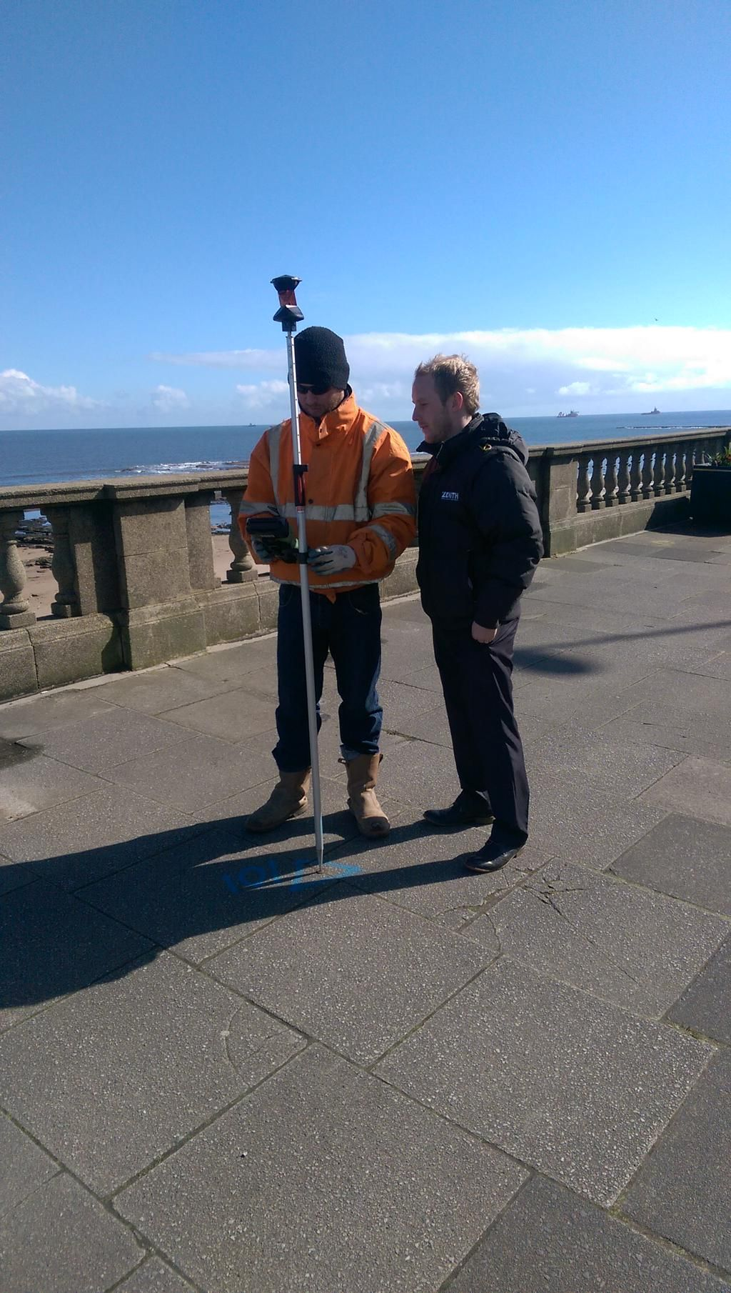 Surveying by the sea Leica Geosystems TS15 total station