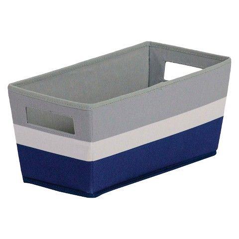 Fabric Quarter Bin Navy Stripe   ITSO™
