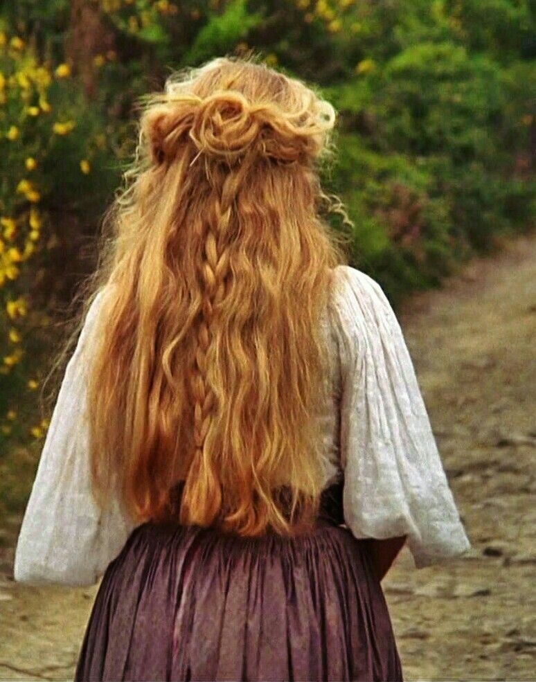 lovely medieval hairstyle hair