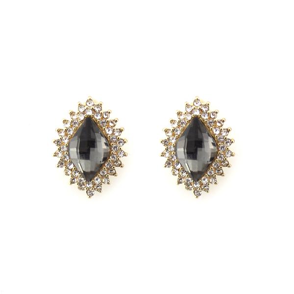 Glass Stone Statement Studs Earrings