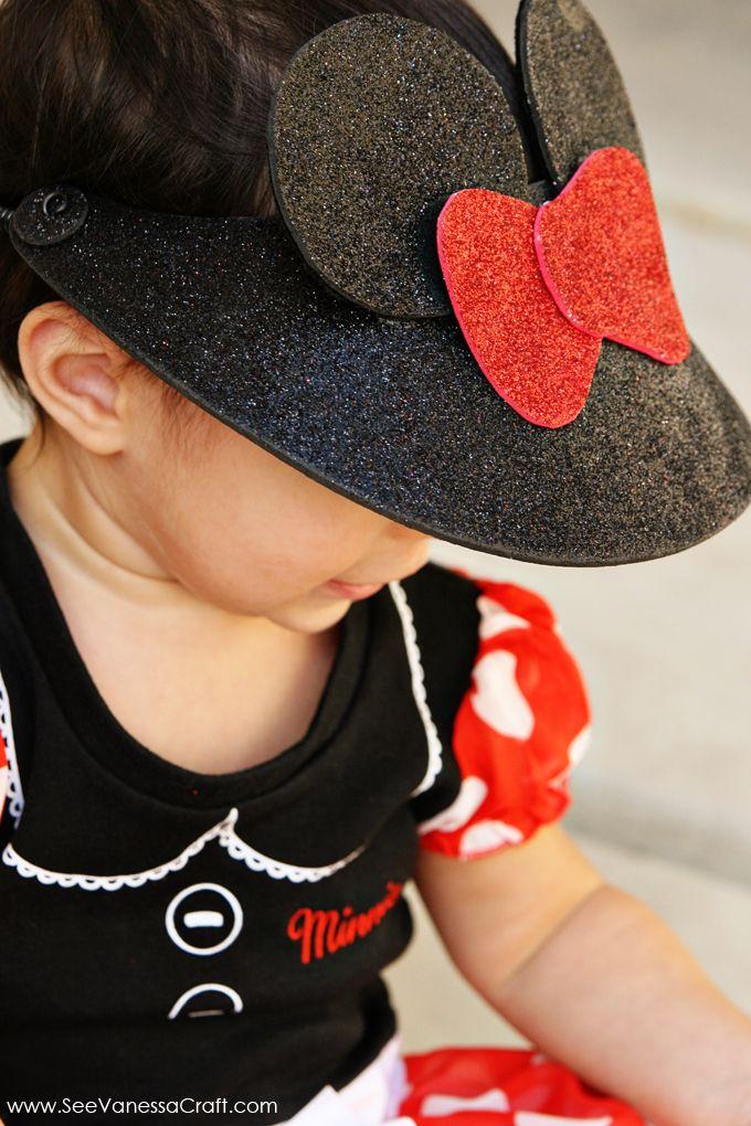 craft tutorial) disney minnie mouse visor hat  e02e5c5c8cd