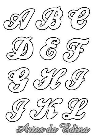 Alfabeto   Caligraphy    Fonts Calligraphy And