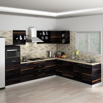 cosmos karlotte modular kitchen - hard-wearing materials and a