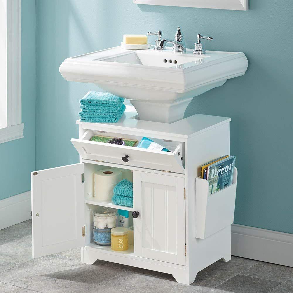 Amazon Com The Pedestal Sink Storage Cabinet Kitchen Dining Pedestal Sink Storage Small Bathroom Storage Sink Storage