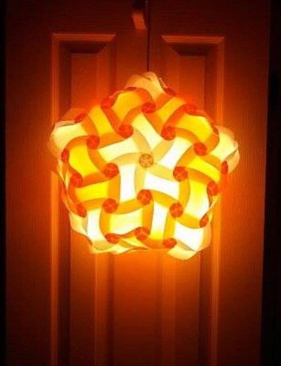 Origami Star Lampshade Hanging 3d Puzzle By Tdogart On Etsy 40 00 Star Lampshade Origami Stars 3d Puzzles