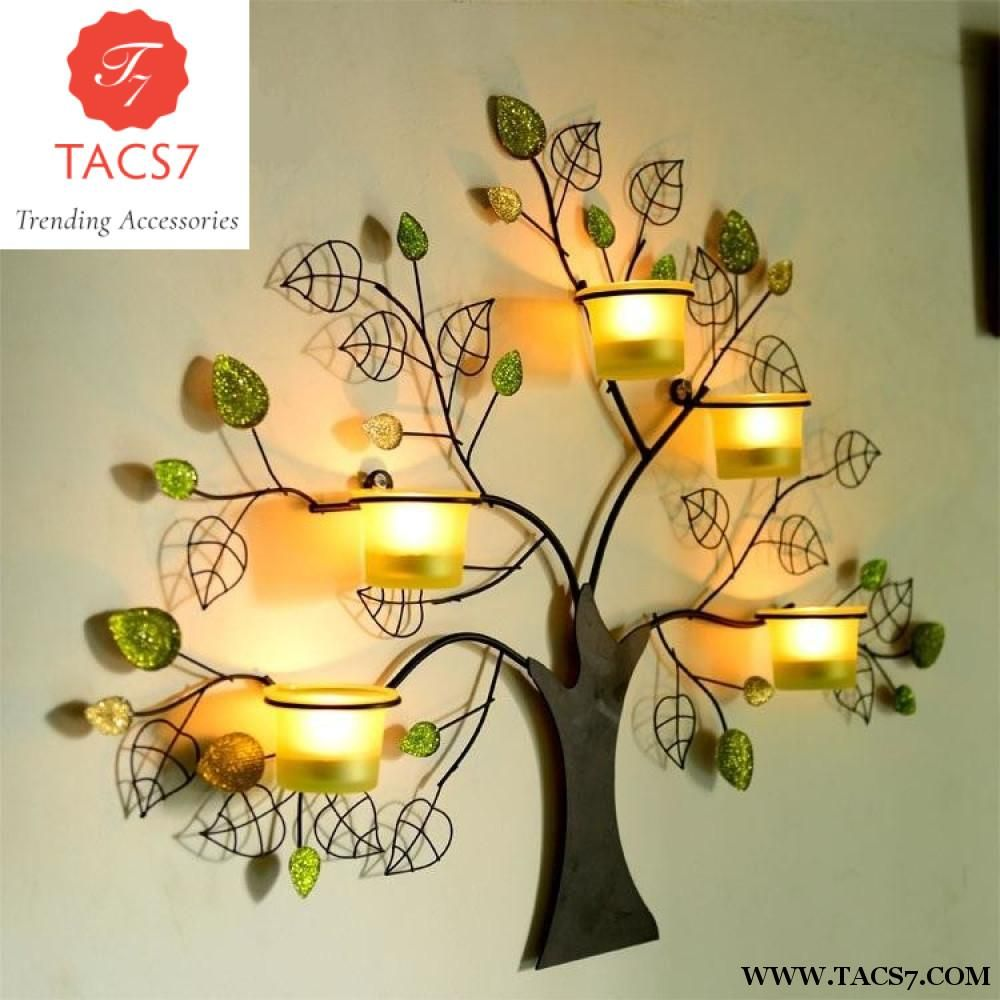 Creative Handmade Rustic Iron Tree Shape Candle Holder | Iron ...