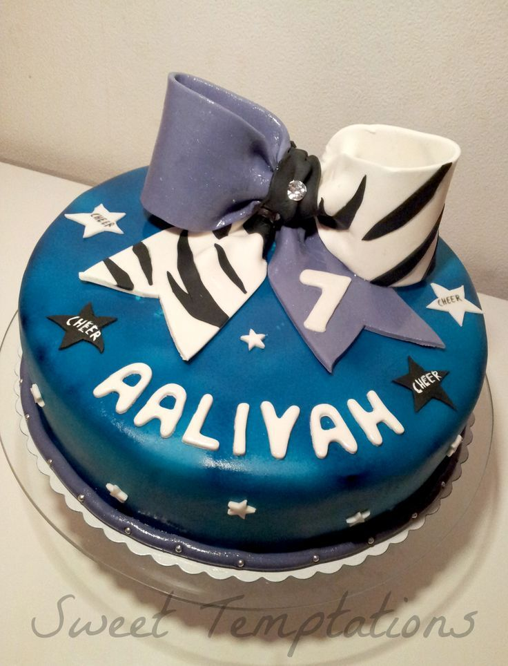 Cool Cheerleaders Bow Cake With Images Cake Cheerleading Cake Bow Personalised Birthday Cards Veneteletsinfo